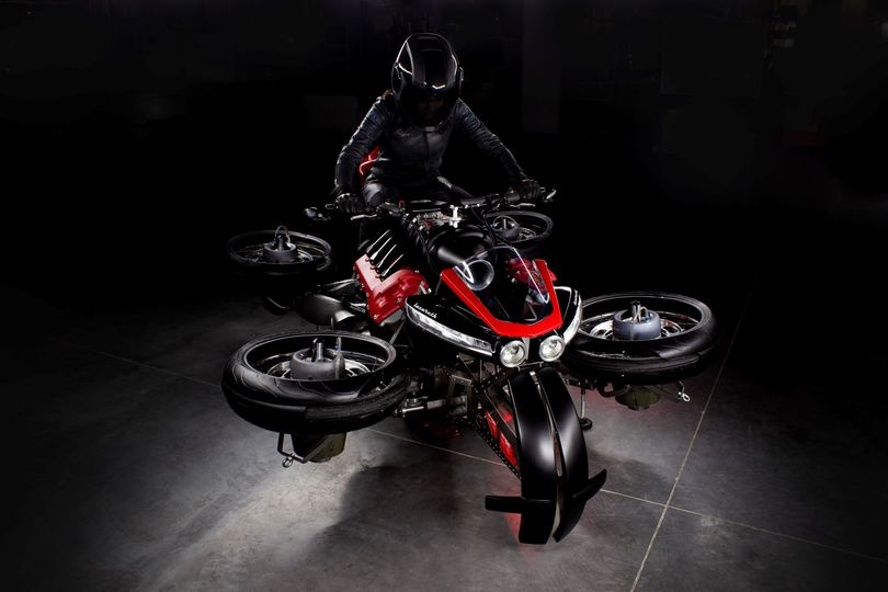 Lazareth LMV 496 La Moto Volante - The flying motorcycle